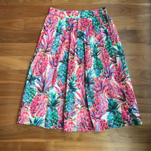 J. Crew - A-line skirt in Ratti painted pineapple